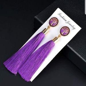 Jewelry - 3/$15 Long Purple Tassel Earrings